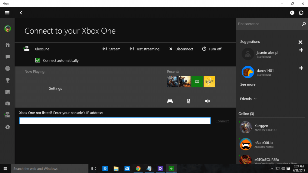 Connected Settings for Xbox App