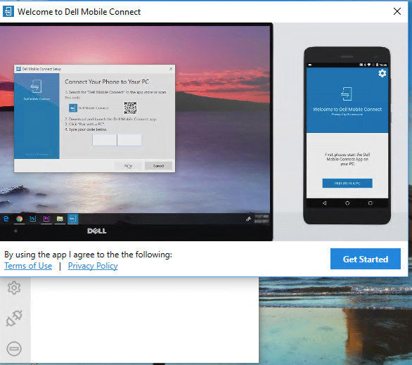 Install Dell Mobile Connect App