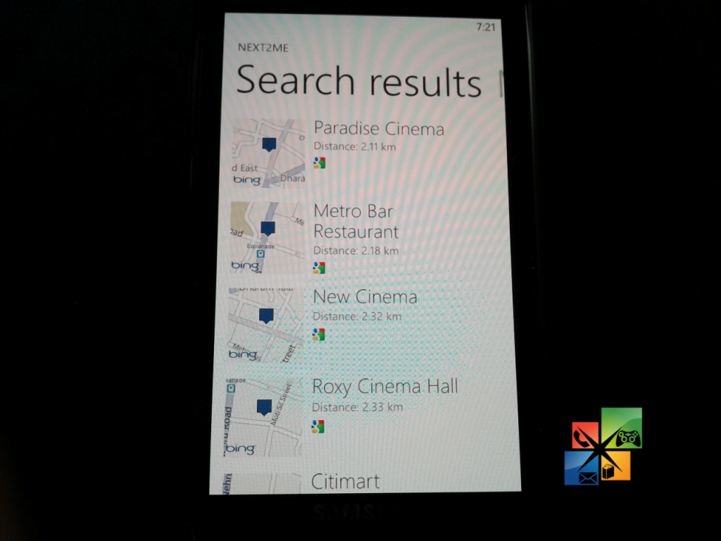 Next 2 Me Search Result