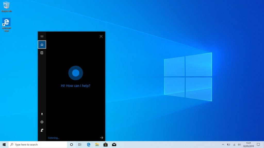 Voice only cortana