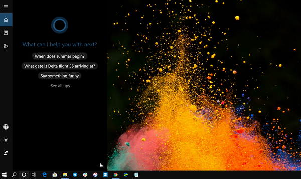 Enable Cortana Windows 10