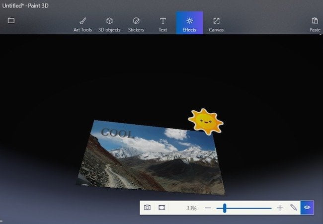 Ad effects in 3d App